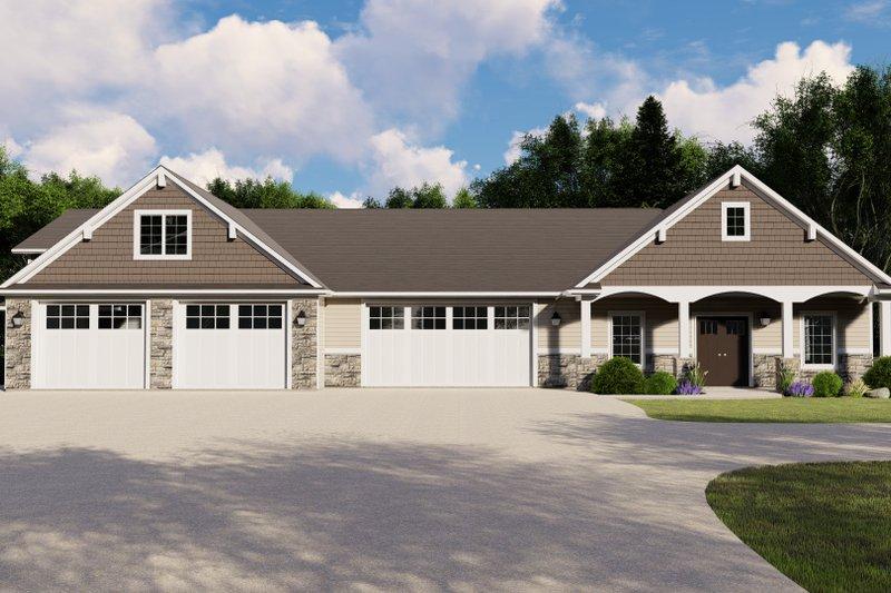 House Plan Design - Craftsman Exterior - Front Elevation Plan #1064-96