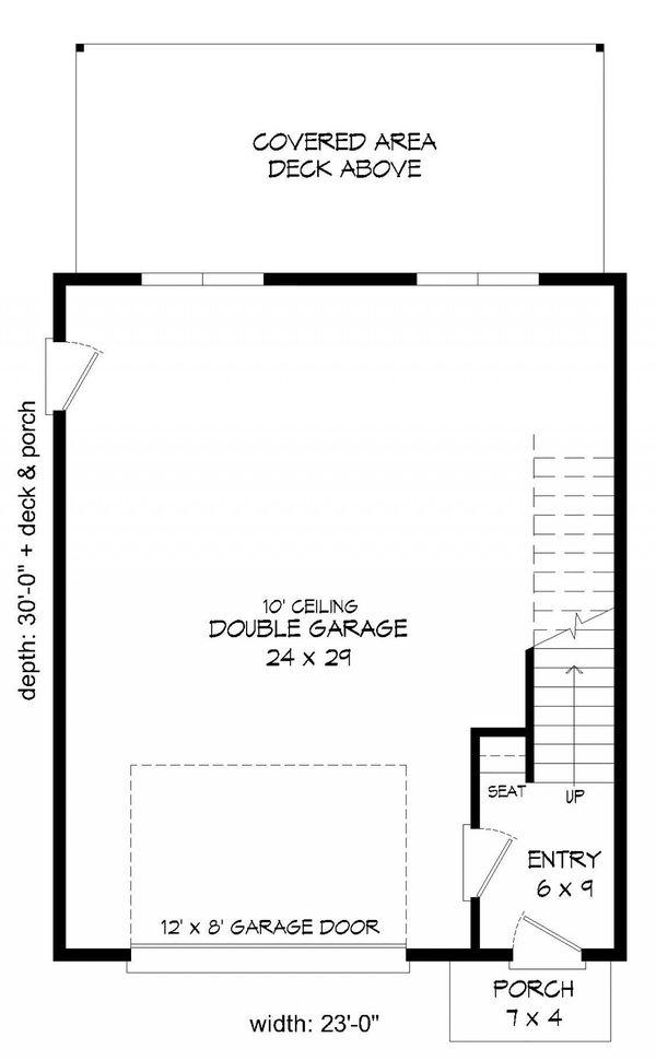 Contemporary Floor Plan - Main Floor Plan #932-41