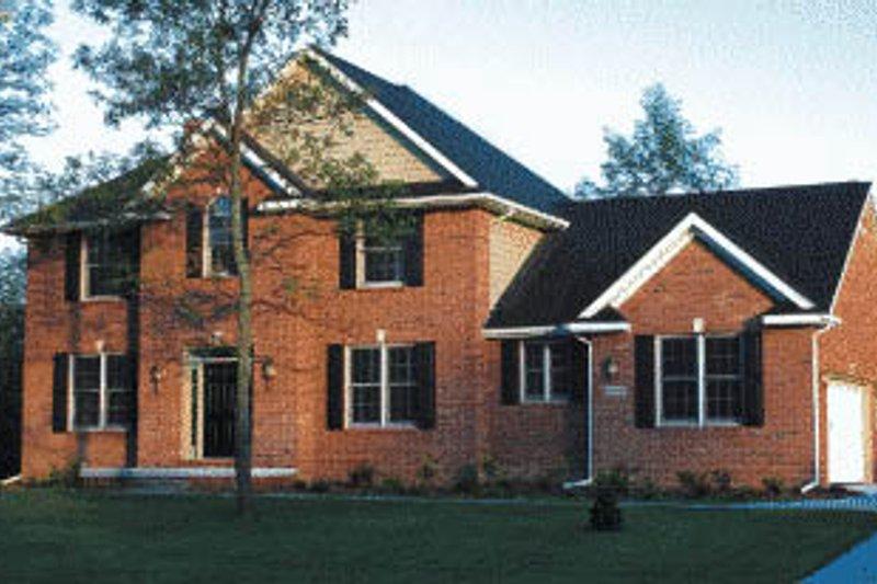 Architectural House Design - European Exterior - Front Elevation Plan #20-219