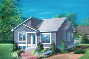 Contemporary Exterior - Front Elevation Plan #25-1222