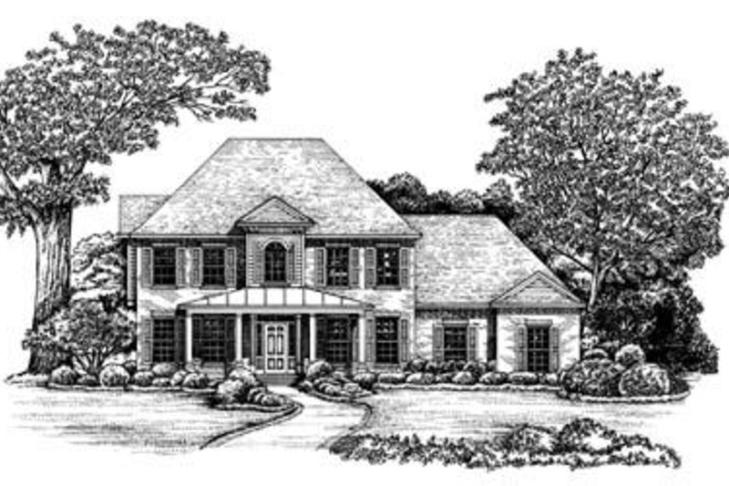 Southern Exterior - Front Elevation Plan #20-962