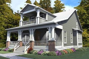 Dream House Plan - Craftsman Exterior - Front Elevation Plan #63-380