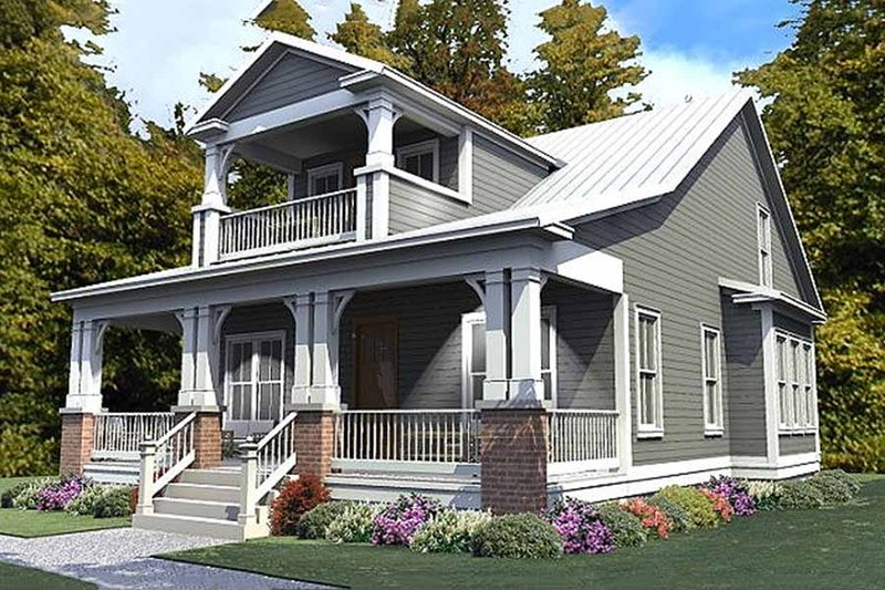 Craftsman Style House Plan - 3 Beds 3 Baths 2296 Sq/Ft Plan #63-380 Exterior - Front Elevation
