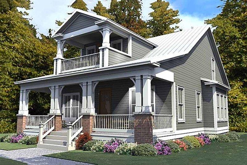 Craftsman Style House Plan - 3 Beds 3 Baths 2296 Sq/Ft Plan #63-380