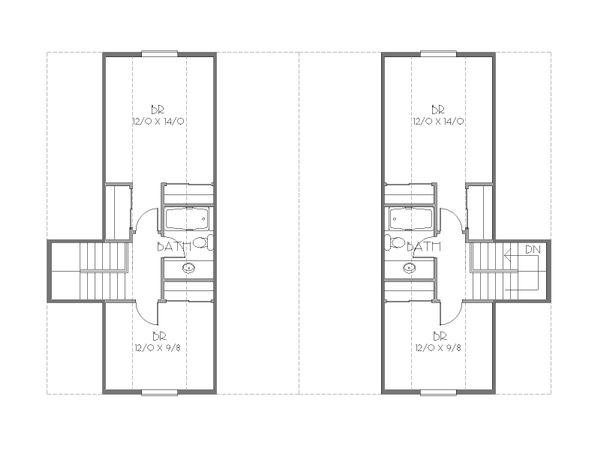 Cottage Floor Plan - Upper Floor Plan #423-52