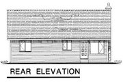 Cottage Style House Plan - 2 Beds 1 Baths 890 Sq/Ft Plan #18-1052 Exterior - Rear Elevation