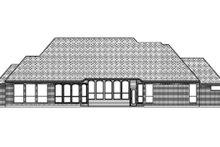European Exterior - Rear Elevation Plan #84-404