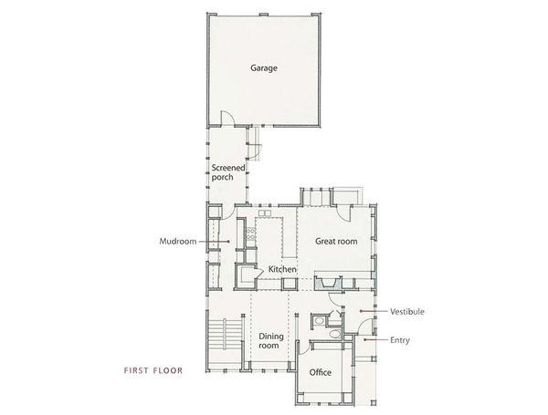 Prairie Floor Plan - Main Floor Plan Plan #454-1