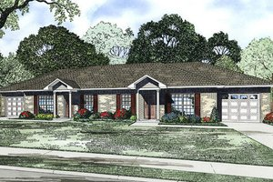 Ranch Exterior - Front Elevation Plan #17-2448