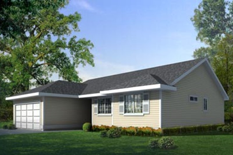 Ranch Exterior - Front Elevation Plan #100-449