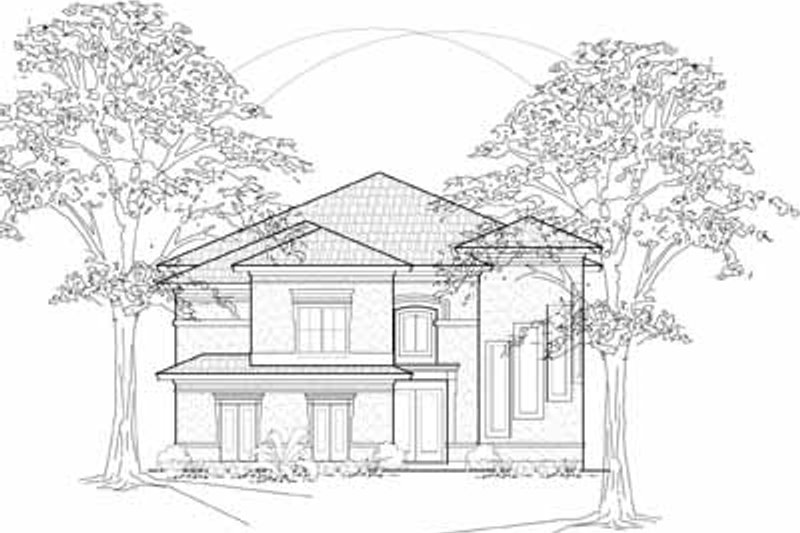 Traditional Exterior - Front Elevation Plan #61-276 - Houseplans.com