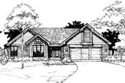 Modern Style House Plan - 3 Beds 2 Baths 1630 Sq/Ft Plan #320-130 Exterior - Front Elevation