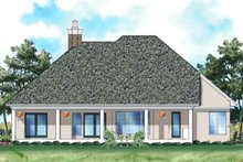 Ranch Exterior - Rear Elevation Plan #930-122
