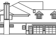 European Style House Plan - 5 Beds 5.5 Baths 4289 Sq/Ft Plan #124-515 Exterior - Other Elevation