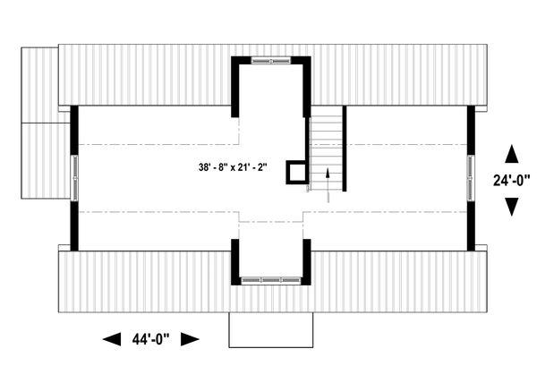 House Plan Design - Cottage Floor Plan - Upper Floor Plan #23-2313