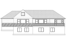 Ranch Exterior - Rear Elevation Plan #1060-2