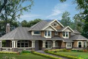 Craftsman Style House Plan - 4 Beds 3.5 Baths 4100 Sq/Ft Plan #132-162 Exterior - Front Elevation