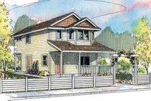 Southern Exterior - Front Elevation Plan #124-505