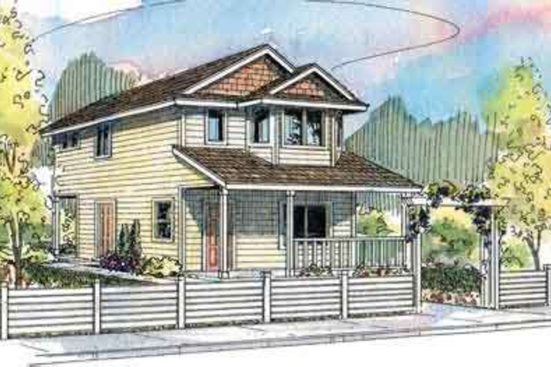 Southern Exterior - Front Elevation Plan #124-505 - Houseplans.com