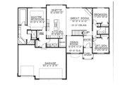 European Style House Plan - 3 Beds 2 Baths 1893 Sq/Ft Plan #20-2151