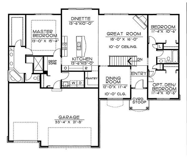 Home Plan - European Floor Plan - Main Floor Plan #20-2151