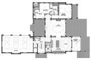 Craftsman Style House Plan - 3 Beds 4 Baths 4444 Sq/Ft Plan #928-305 Floor Plan - Main Floor Plan