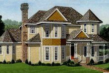 Dream House Plan - Victorian Exterior - Front Elevation Plan #410-233
