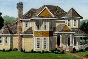 Victorian Exterior - Front Elevation Plan #410-233