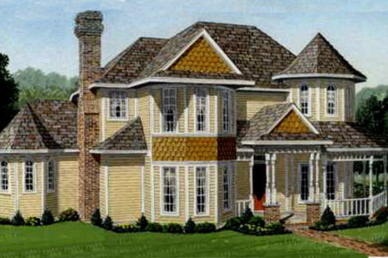 Victorian Exterior - Front Elevation Plan #410-233