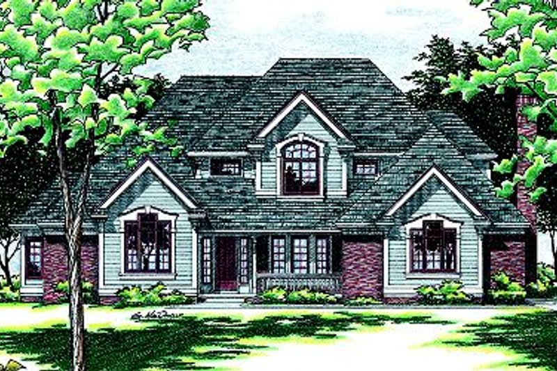 Traditional Exterior - Front Elevation Plan #20-2001