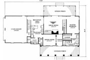 Southern Style House Plan - 3 Beds 2.5 Baths 2038 Sq/Ft Plan #137-123 Floor Plan - Main Floor