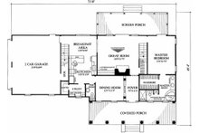 Southern Floor Plan - Main Floor Plan Plan #137-123
