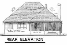 House Blueprint - Ranch Exterior - Rear Elevation Plan #18-207