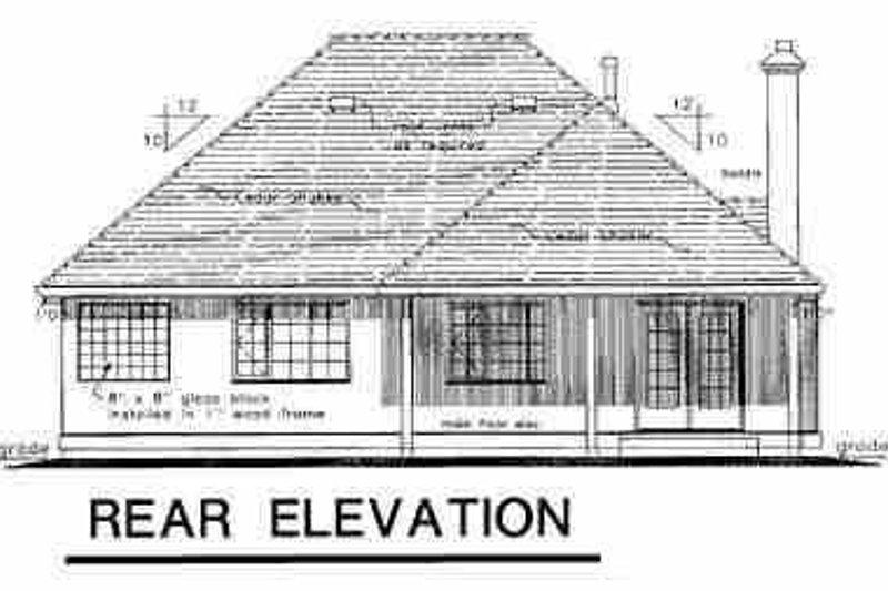 Ranch Exterior - Rear Elevation Plan #18-207 - Houseplans.com