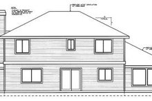 Home Plan Design - Traditional Exterior - Rear Elevation Plan #93-203