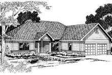 Ranch Exterior - Front Elevation Plan #124-270