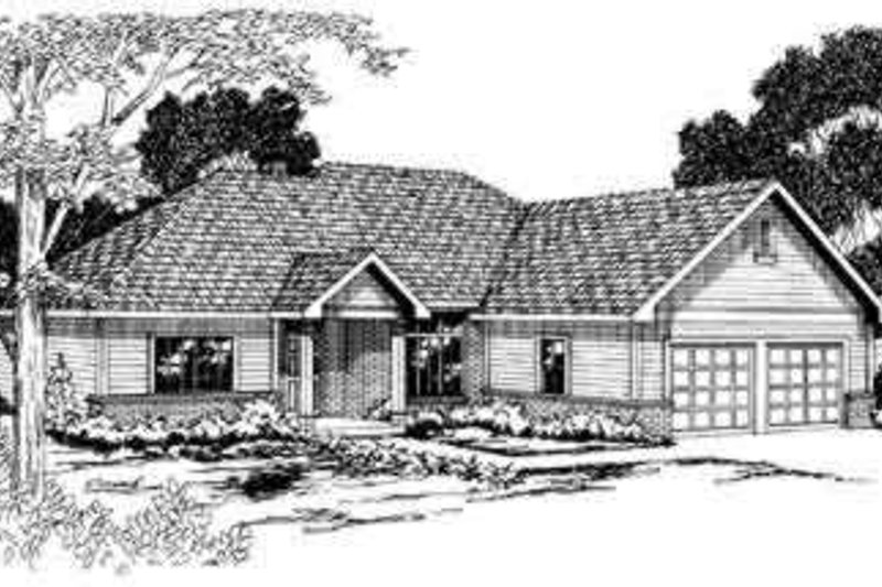 Ranch Exterior - Front Elevation Plan #124-270 - Houseplans.com