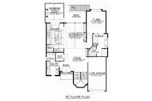 Craftsman Floor Plan - Main Floor Plan Plan #1064-13