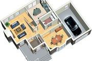 European Style House Plan - 3 Beds 1.5 Baths 1653 Sq/Ft Plan #25-4156 Photo