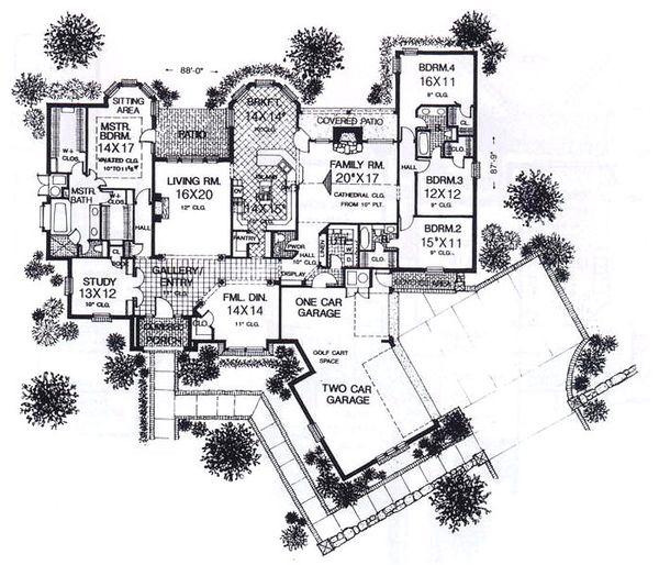 European Floor Plan - Main Floor Plan #310-943