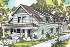 Country Exterior - Front Elevation Plan #124-682