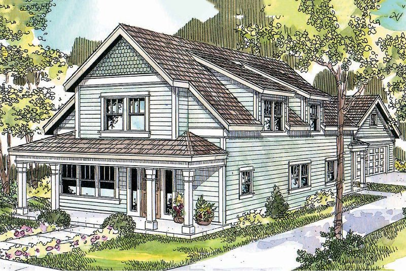 Dream House Plan - Country Exterior - Front Elevation Plan #124-682
