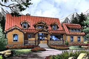 House Blueprint - Craftsman Exterior - Front Elevation Plan #417-276