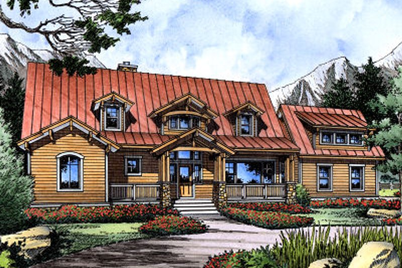 Craftsman Exterior - Front Elevation Plan #417-276