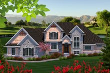 Home Plan - Traditional Exterior - Front Elevation Plan #70-1182