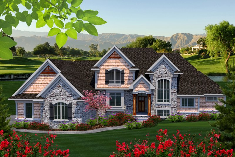 Dream House Plan - Traditional Exterior - Front Elevation Plan #70-1182