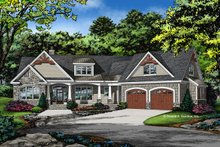 Craftsman Exterior - Front Elevation Plan #929-1040