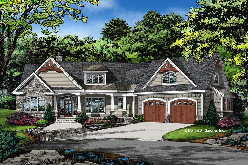 Craftsman Exterior - Front Elevation Plan #929-1040