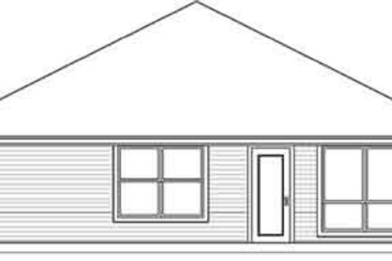 Traditional Exterior - Rear Elevation Plan #84-205 - Houseplans.com