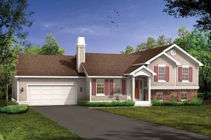 Split Level Ranch House Plans at BuilderHousePlans.com on home plans one-bedroom, home plans for beach house, home narrow lot house plans,